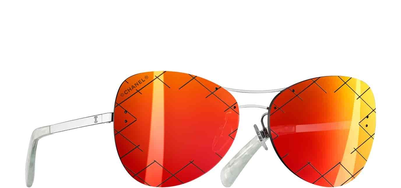 Buy Chanel Pilot Quilting Sunglasses Red Mirror A71174 L2648