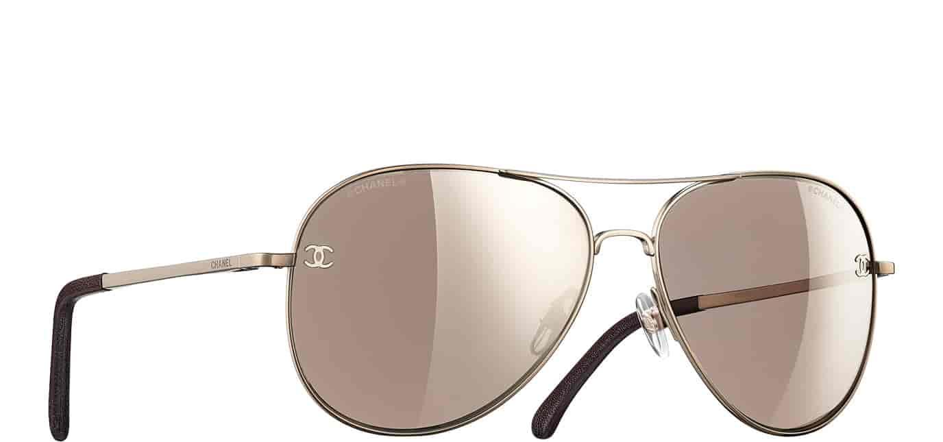 Buy Chanel Pilot Signature Sunglasses Brown Mirror [A40888 L9567 ...
