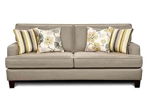Chelsea Home Furniture Geneva Sofa Decade Smoke With Zara Gunmetal Estrella Pillows