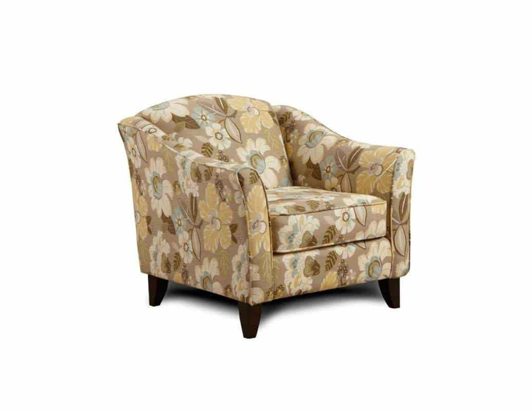 Chelsea Home Furniture Hudson Accent Chair Upholstered In Daintree Flax