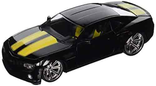 Chevy-Camaro-SS-Black-w-Stripes-Jada-Toys-Bigtime-Muscle-96762-1-24-scale-Diecast-Model-Toy-Car