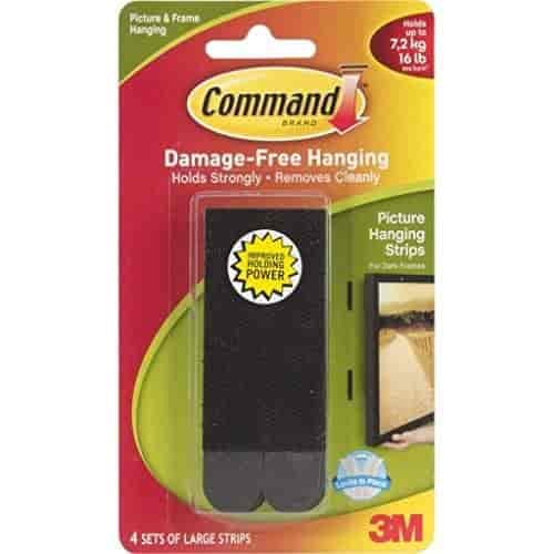Buy Command Large Picture Hanging Strips Black 4 Strip Features