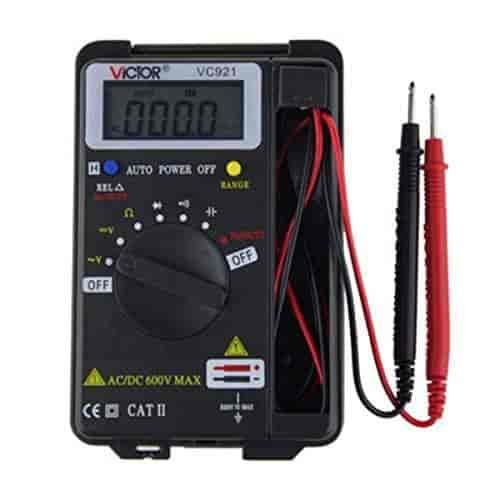 VC921 3 3//4 Pocket Digital Multimeter Mini Tiny Small