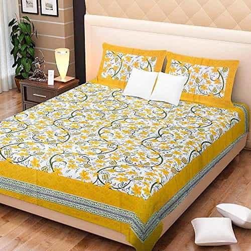 Cotton Double Bed Sheet Set(HK36)