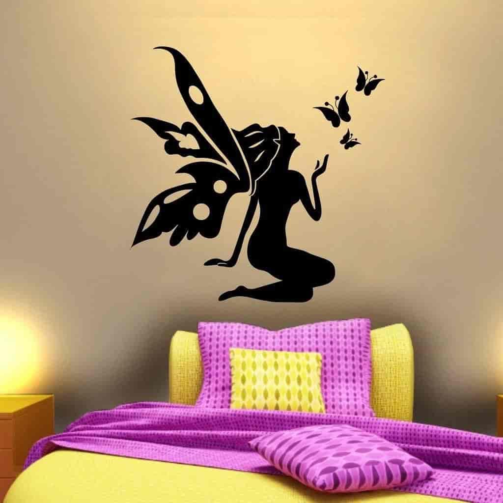 Buy Decor Villa Fairy Wall Decal & Sticker Black Color Small Size-35 ...
