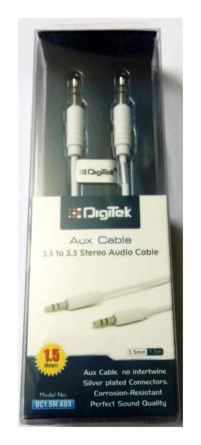 Digitek AUX Cable 1.5m DC 1.5M AUX (Colors May Vary)