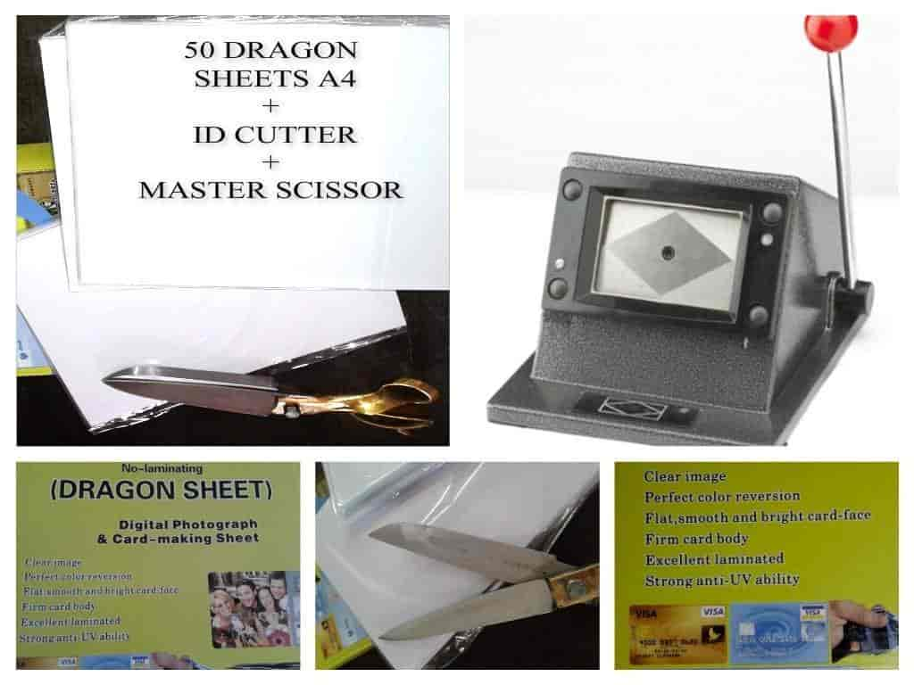 buy dragon sheet id card cutter heavy scissor 50 sheets 1400
