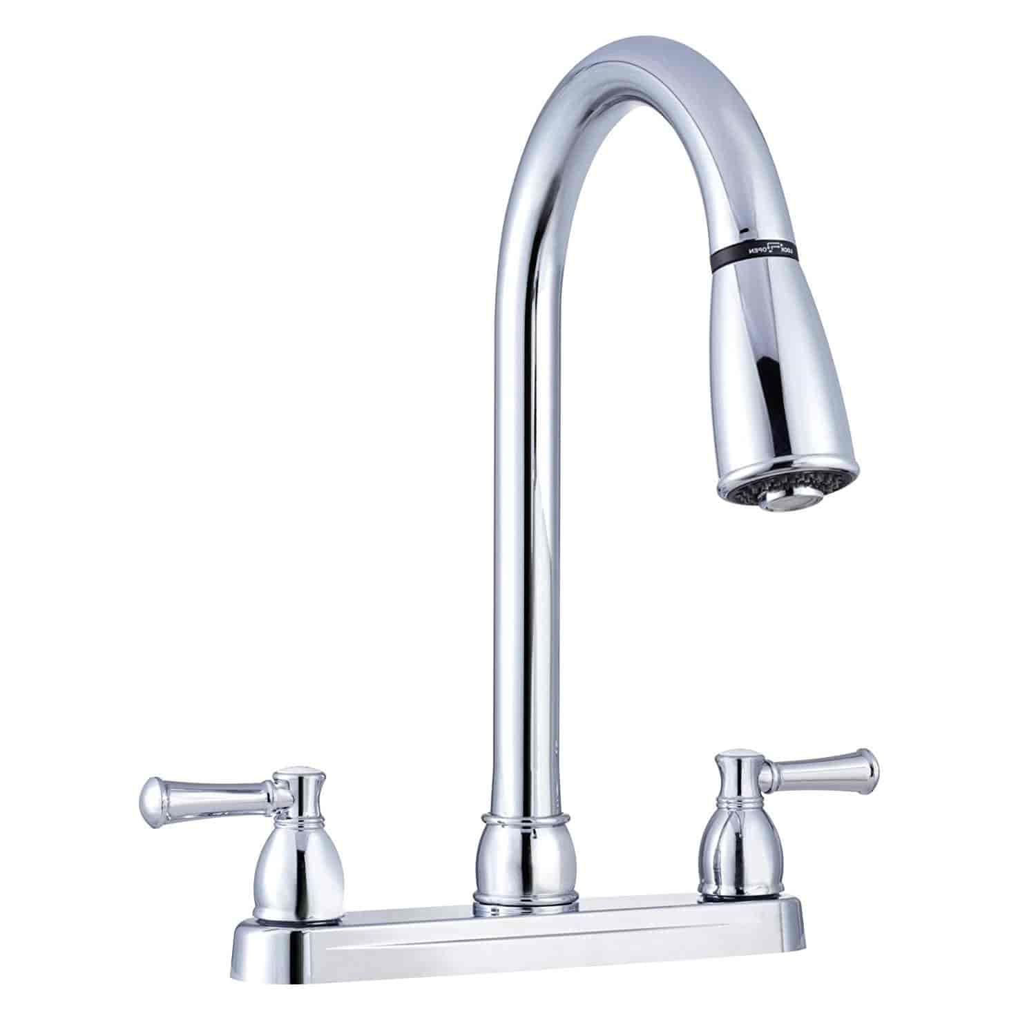 Buy Dura Faucet Df Pk350l Cp Non Metallic Dual Lever Pull Down Rv Kitchen Faucet Replacement Faucet For Motorhomes 5th Wheel Trailer Camper Lifetime Warranty Chrome Features Price Reviews Online In India Justdial