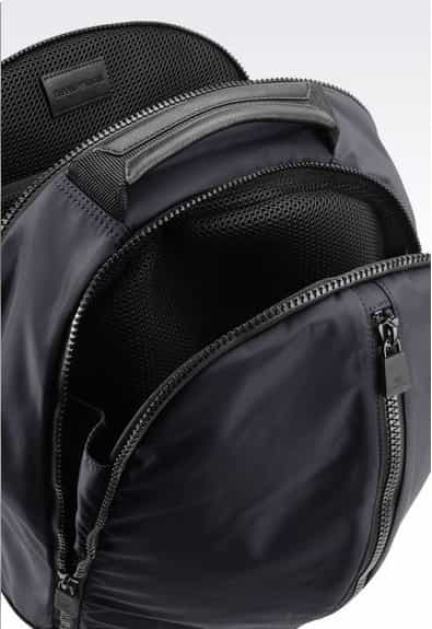 Emporio Armani Men Backpack In Nylon   Calfskin Navy Blue   Y4O112YKF4V8789087890  68b9e566fd