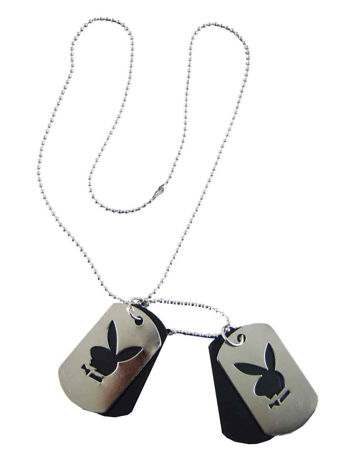 eshoppee-Designer-Dog-Tags-for-Men-Women-Stainless-Steel-Shiny-Double-Locket-Pendant-with-Chain-Necklace-Silver