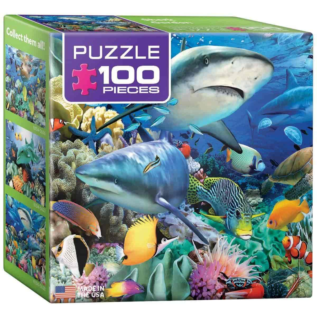 Fish aquarium just dial - Eurographics Ocean Garden Mini Puzzle 100 Piece