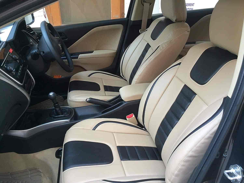 Buy For Tata Nano - Car Seat covers - PU Leatherite / Rexin - Beige