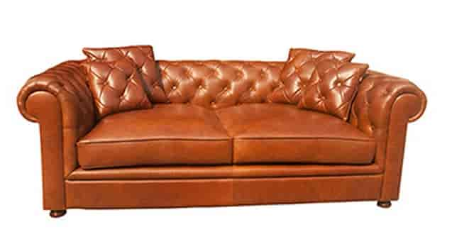 Pure Leather Sofa Enjoy The Plush Feeling Of This Marty