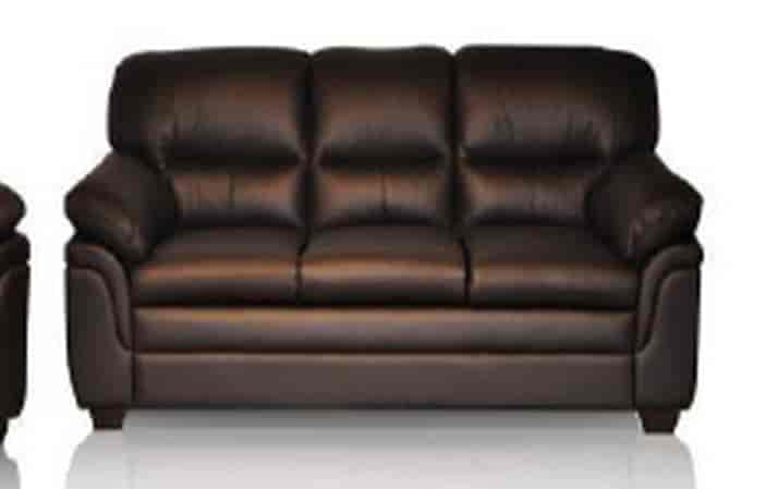 pure leather sofa enjoy the plush feeling of this marty genuine leather sofa rich thesofa. Black Bedroom Furniture Sets. Home Design Ideas