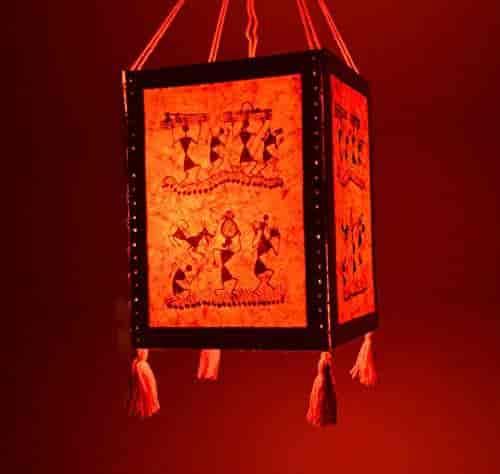 Buy handmade red warli paper diwali lantern lamp lampshade handmade red warli paper diwali lantern lamp lampshade akashkandil akashdiya aloadofball Images