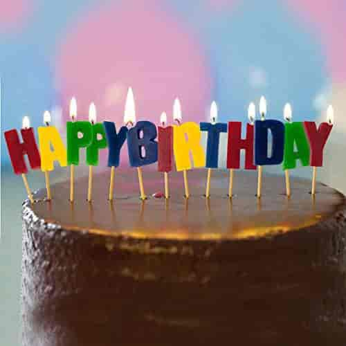 buy happy birthday letter candles pick set word party cake topper on birthday cake toppers online india
