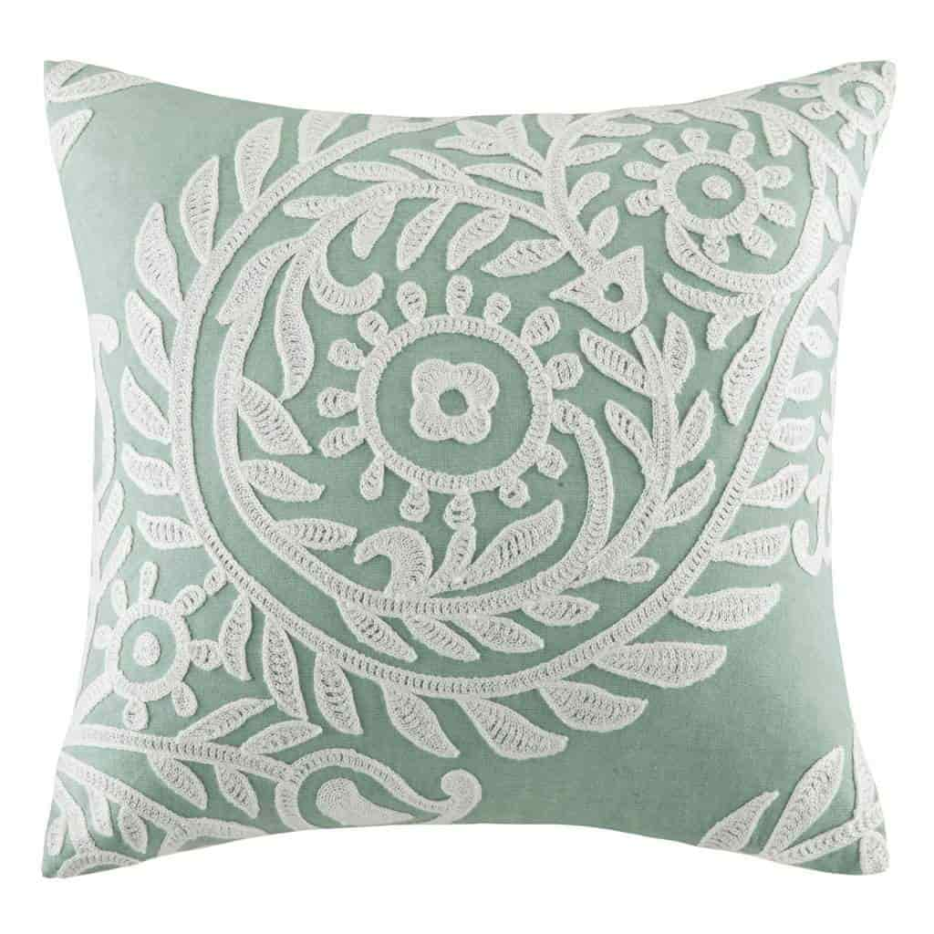 Rizzy Home T12238 Decorative Poly Filled Throw Pillow 22 x 22 Red//Ivory