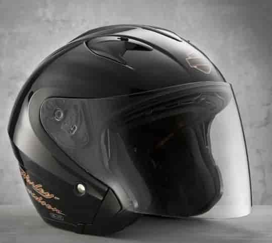 where to buy high fashion best service Harley Davidson Women With Shield Open Face 2XL Helmet Gloss Black ...
