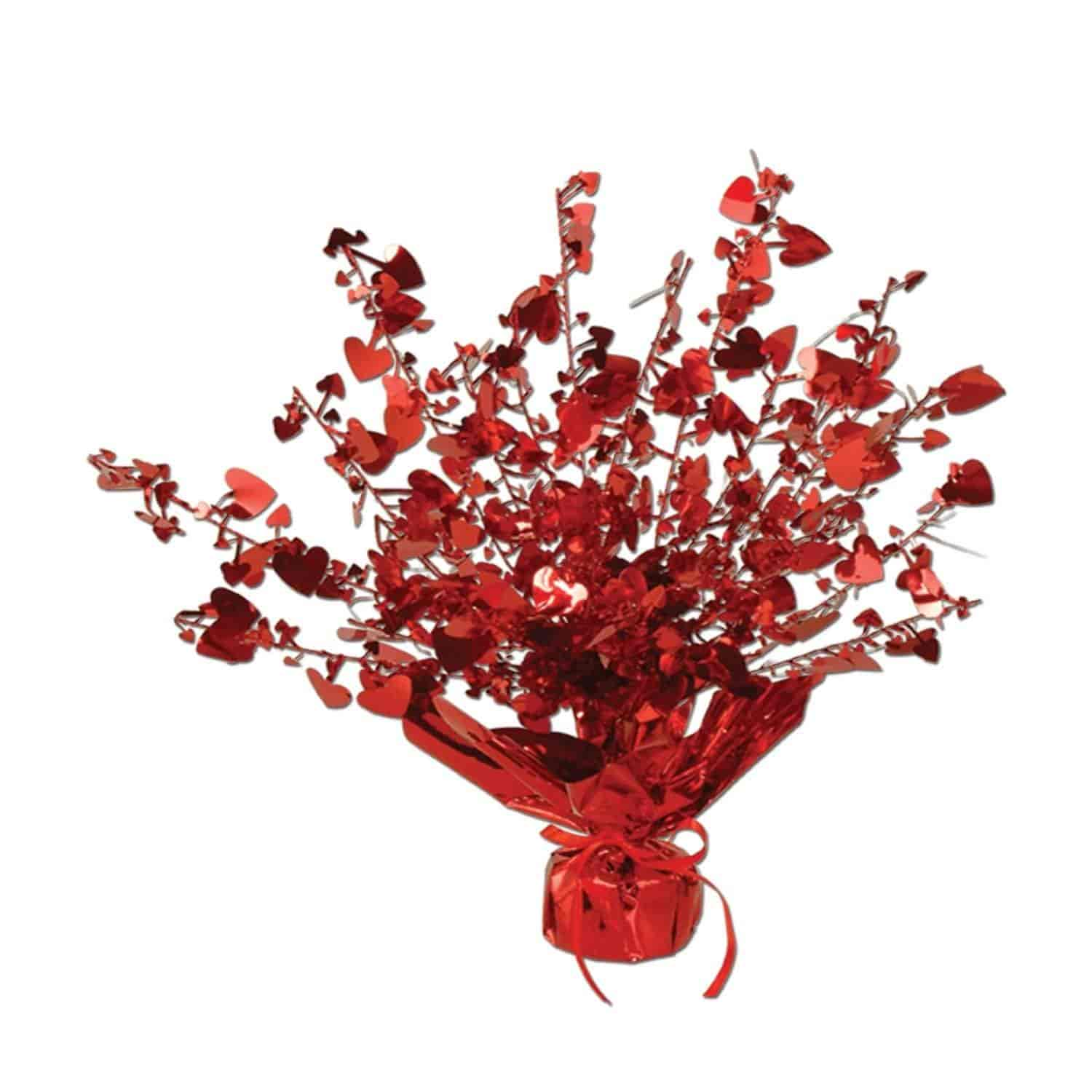 Fish aquarium just dial - Heart Gleam N Burst Centerpiece Red Party Accessory 1 Count