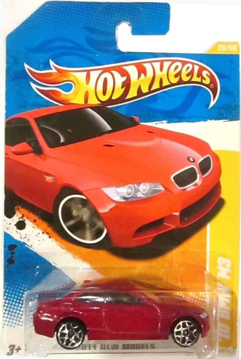 Buy Hot Wheels New Models 10 Bmw M3 Red On 2 Car Bands Included Card