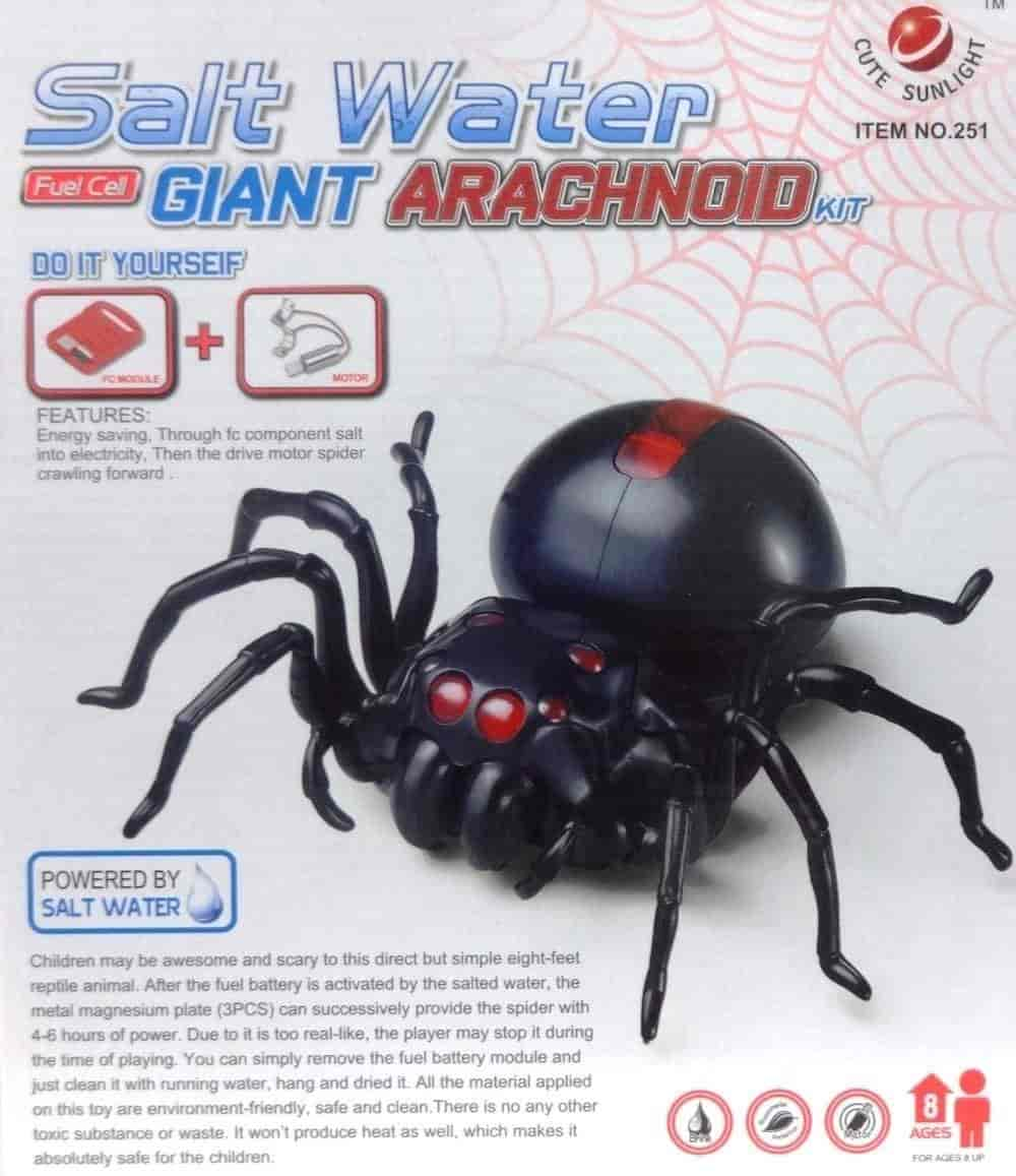 House-Of-Quirk-Salt-Water-Fuel-Cell-Giant-Arachnoid-Spider-Diy-Kit-Science-Education-Toys-For-Kids