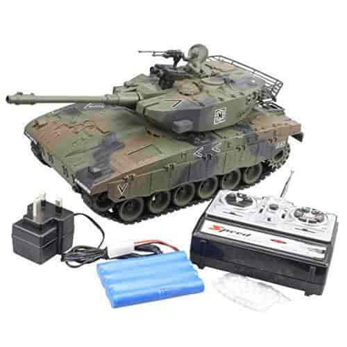 Hugine-15-Channel-1-20-RC-Tank-Israel-Merkava-Main-Battle-Tank-Model-With-Shoot-Bullet(Camouflage-Green)