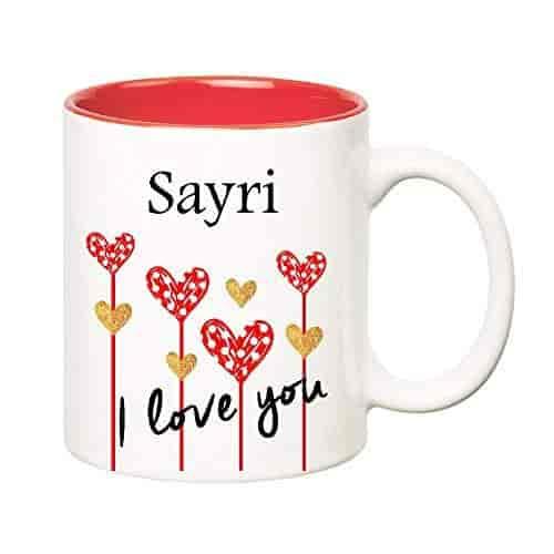 buy huppme i love you sayri inner red ceramic mug 350 ml features
