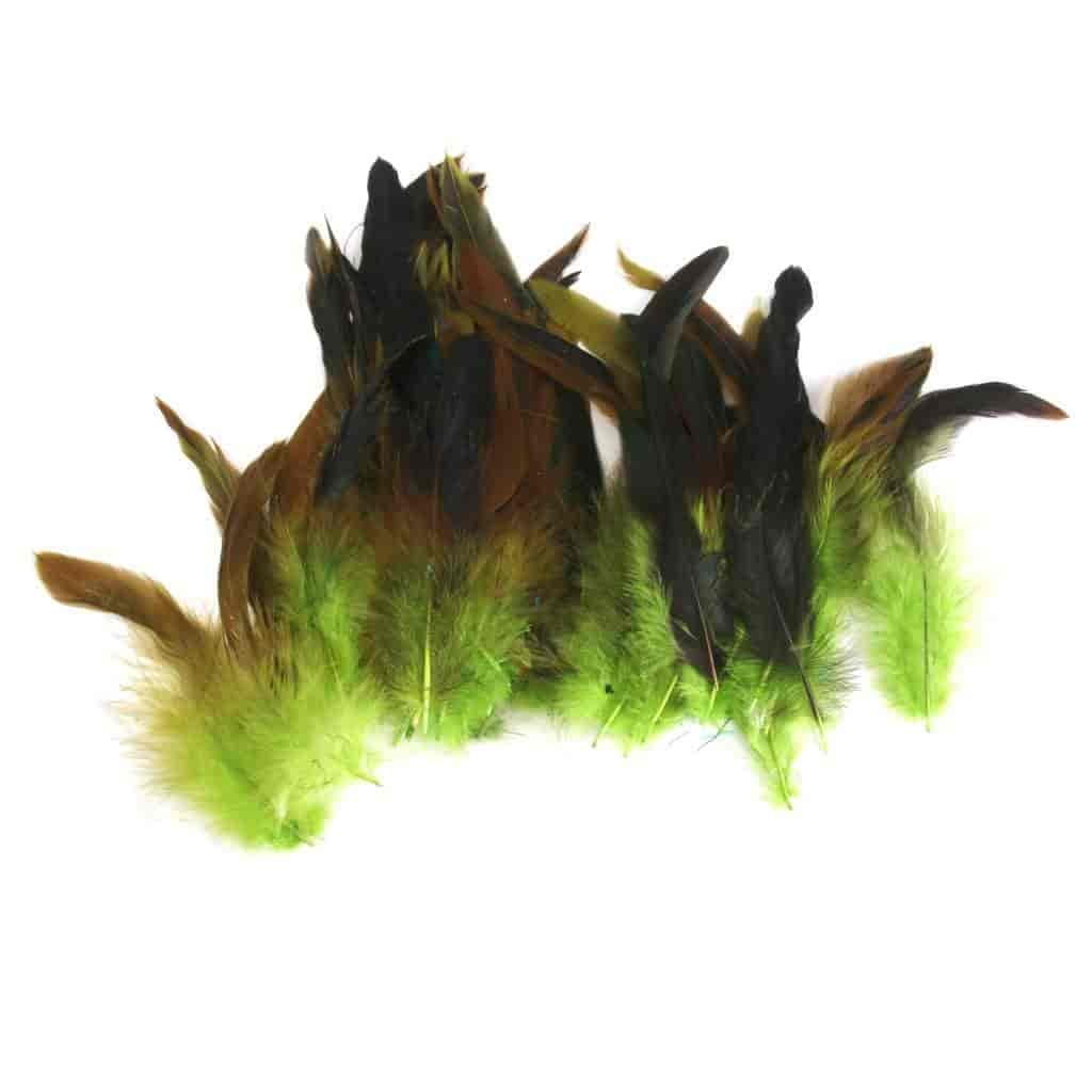 Fish aquarium just dial - Imported Wholesale 50 Beautiful Rooster Feathers 12 18cm 4 7 Green