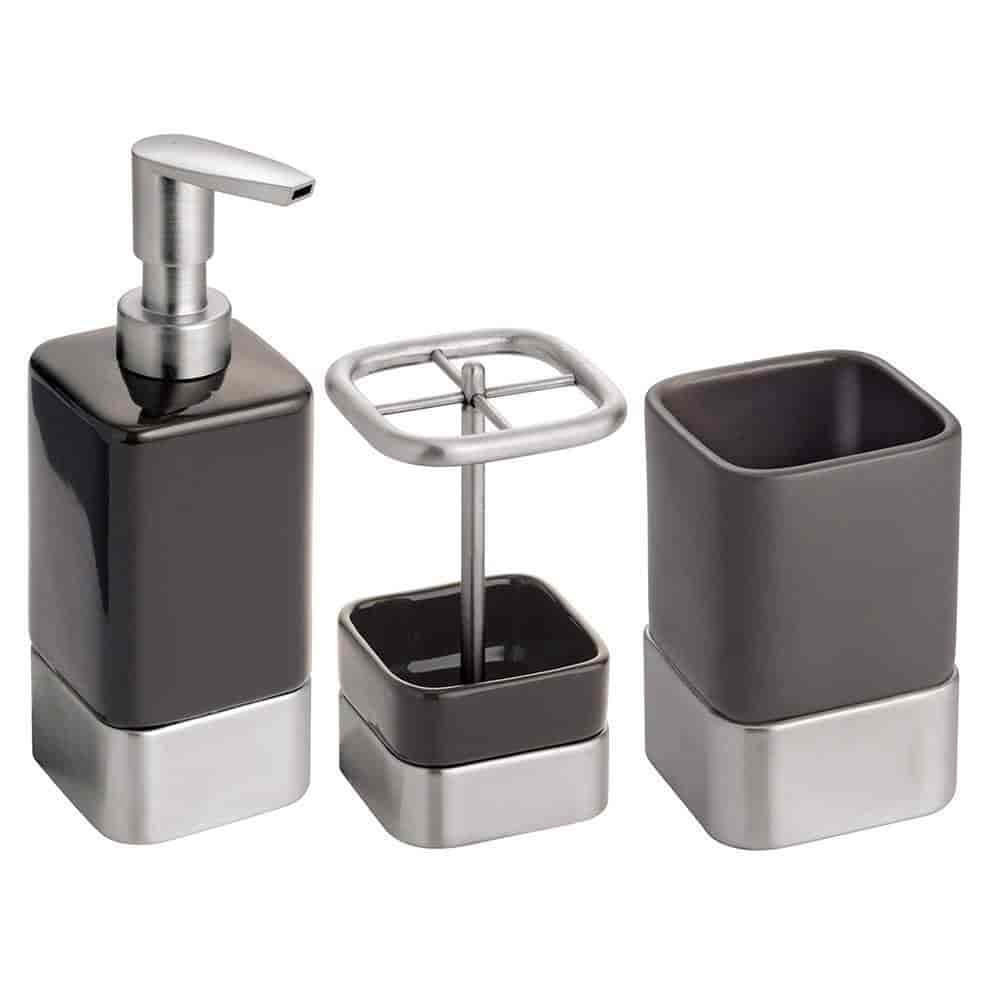 Buy Interdesign Gia Bath Accessory Set Soap Dispenser Pump