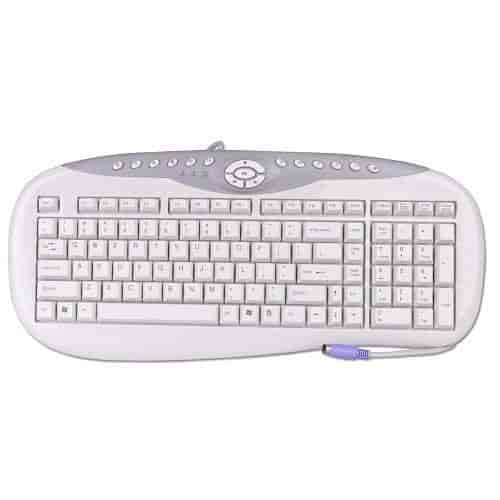 iOne-Scorpius-M6-104-Key-PS2-Multimedia-Keyboard-(Beige)