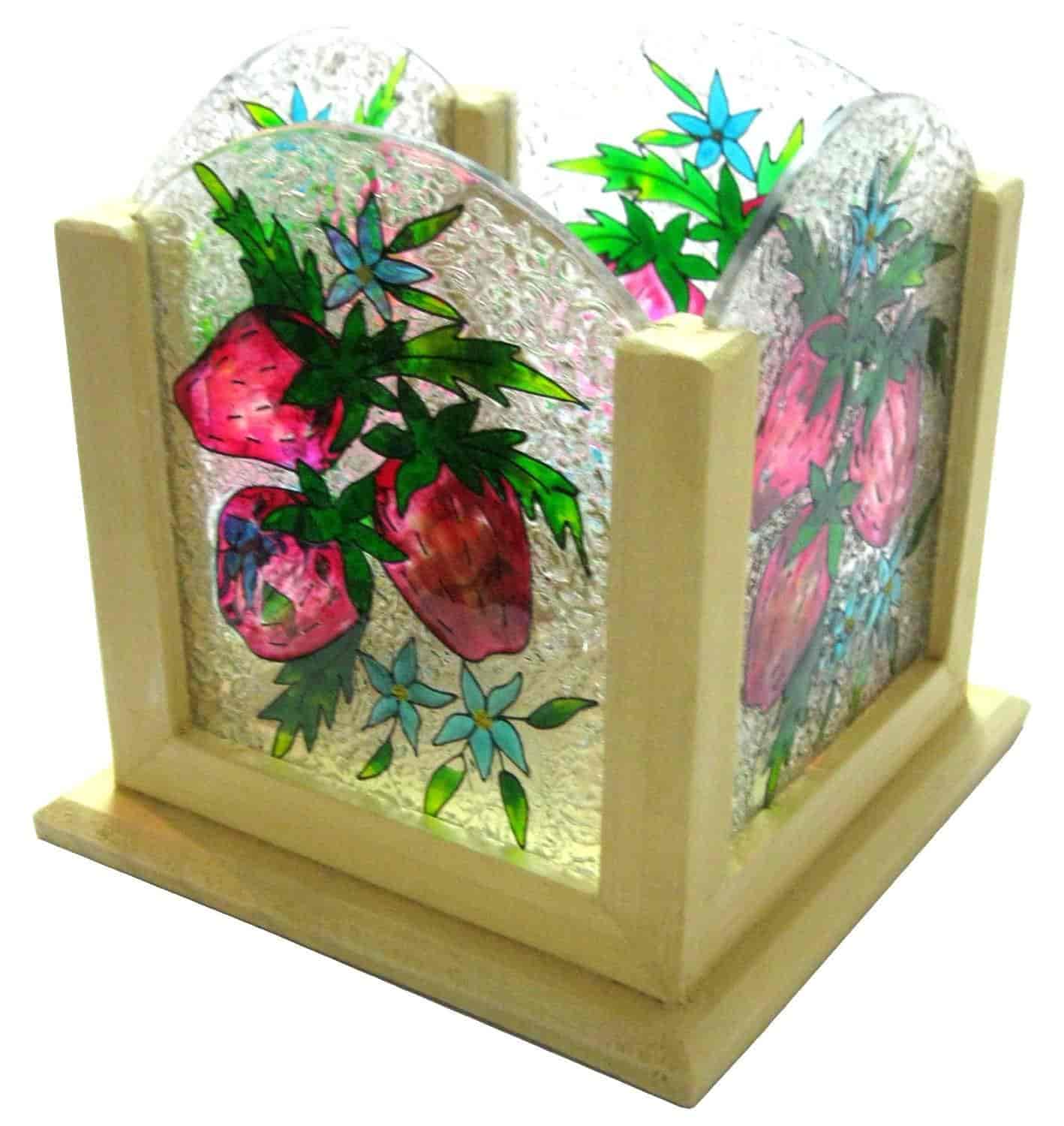Fish aquarium just dial - Irshikaa Hues Cutlery Holder Straw Berry 16x16x16 Cm