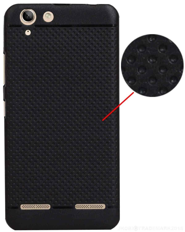 Buy Jkobi Dotblklnvk5plus Classic Dotted Designed Soft Rubberised Lenovo Vibe K5 Plus Back Case Cover For