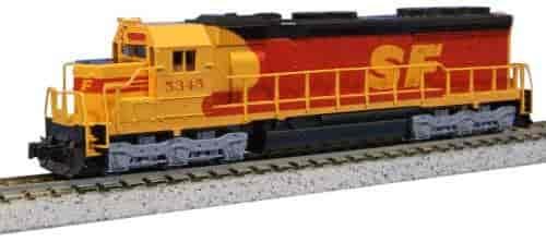 Kato-USA-Model-Train-Products-EMD-SD45-SPSF-5345-Kodachrome-N-Scale-Train