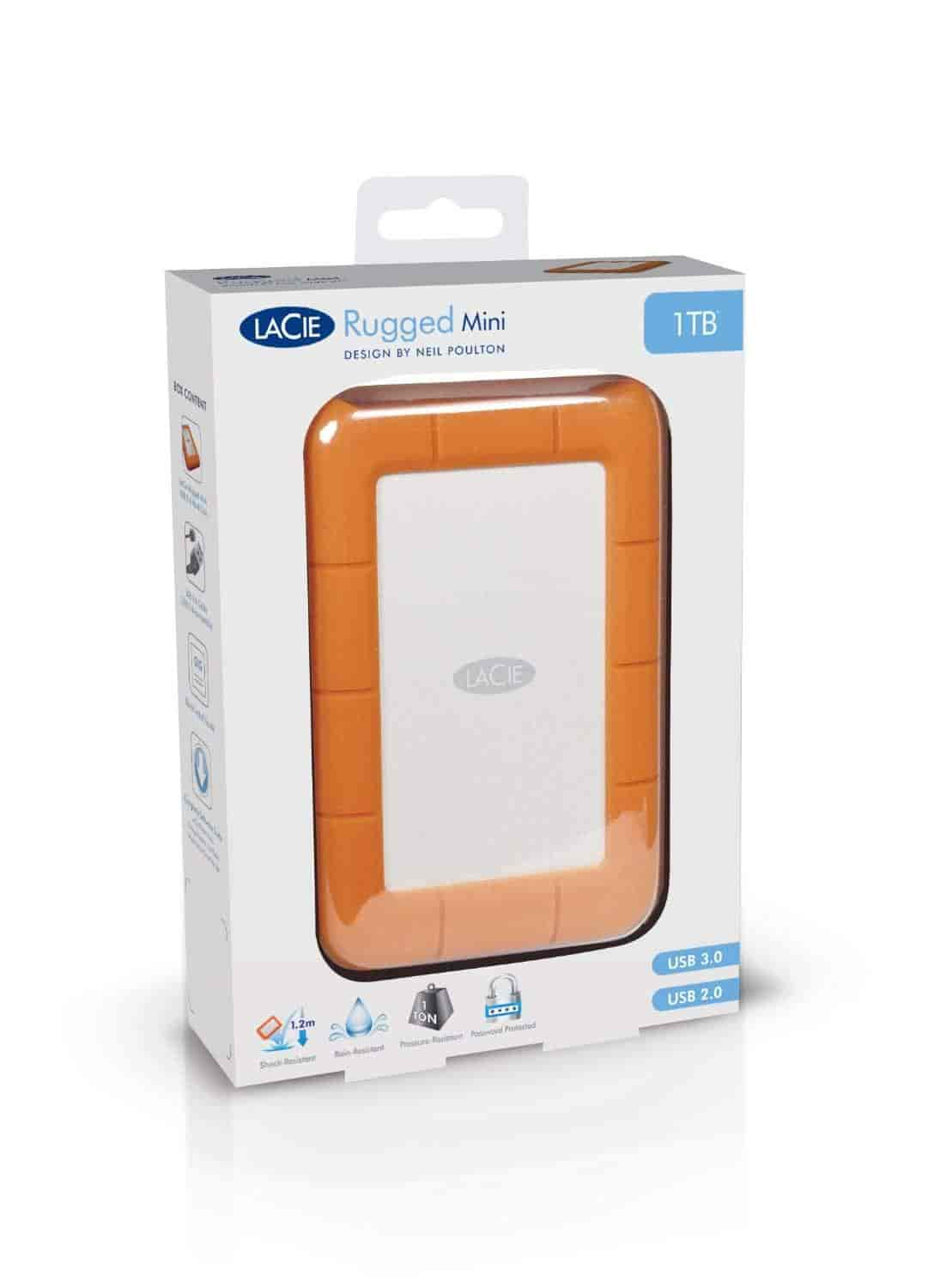 Lacie Rugged 500 Gb Usb 3 0 Mini Disk Portable Hard Drive