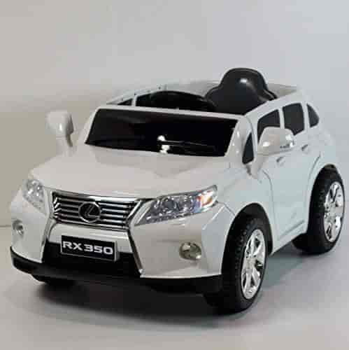Buy Lexus Rx350 White Battery Operated Ride On Car Toy With Remote