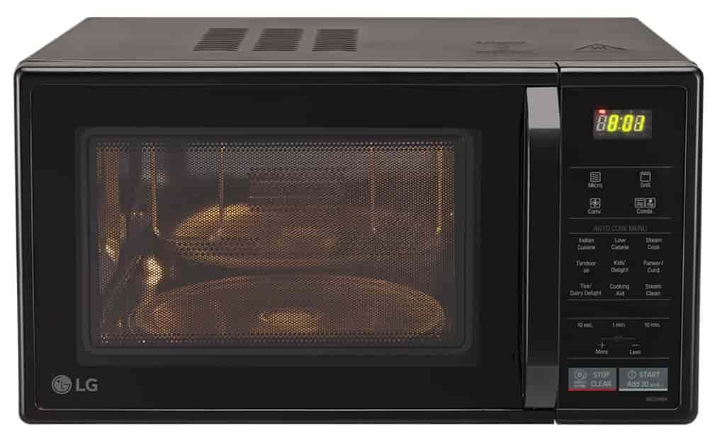 Lg Mc2146bv 21 Litres Convection Microwave Oven Black