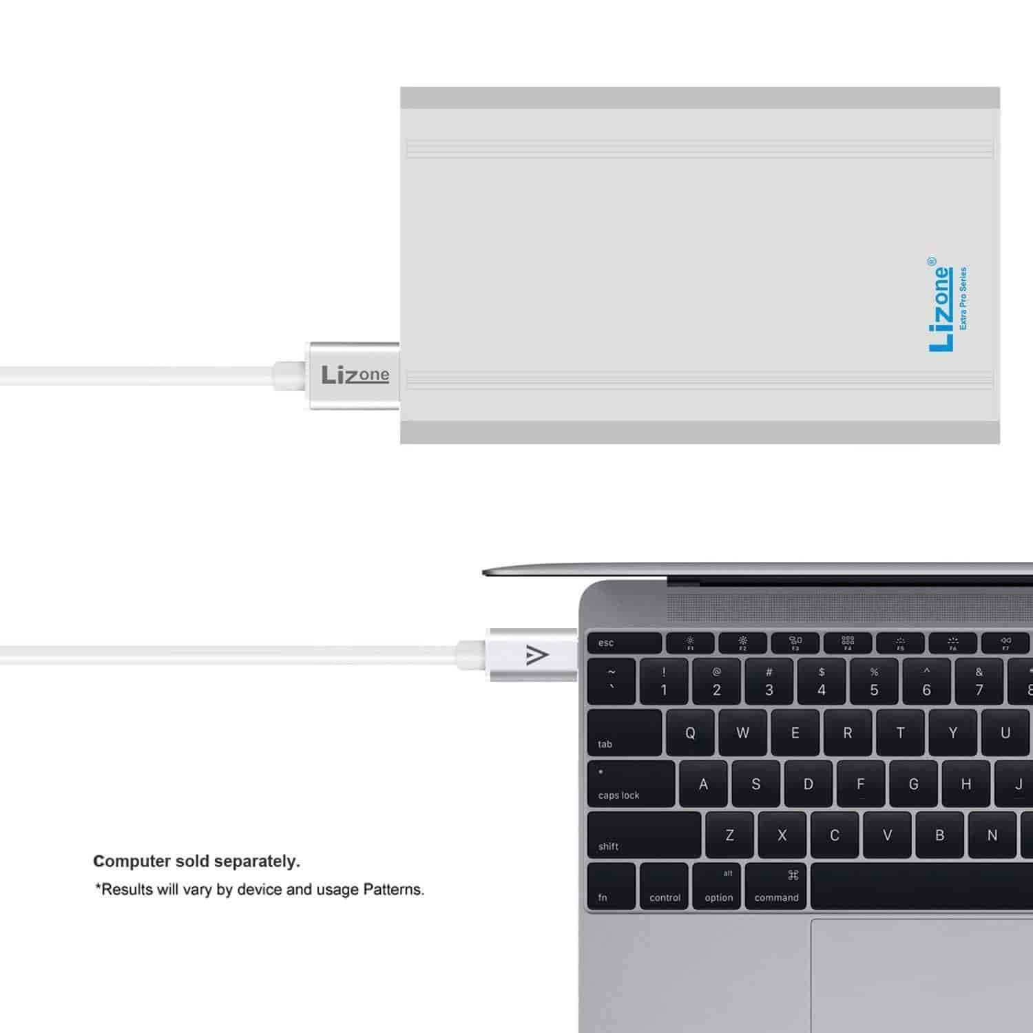 Buy Lizone 50000mah Extra Pro External Battery Charger For Apple Control Macbook