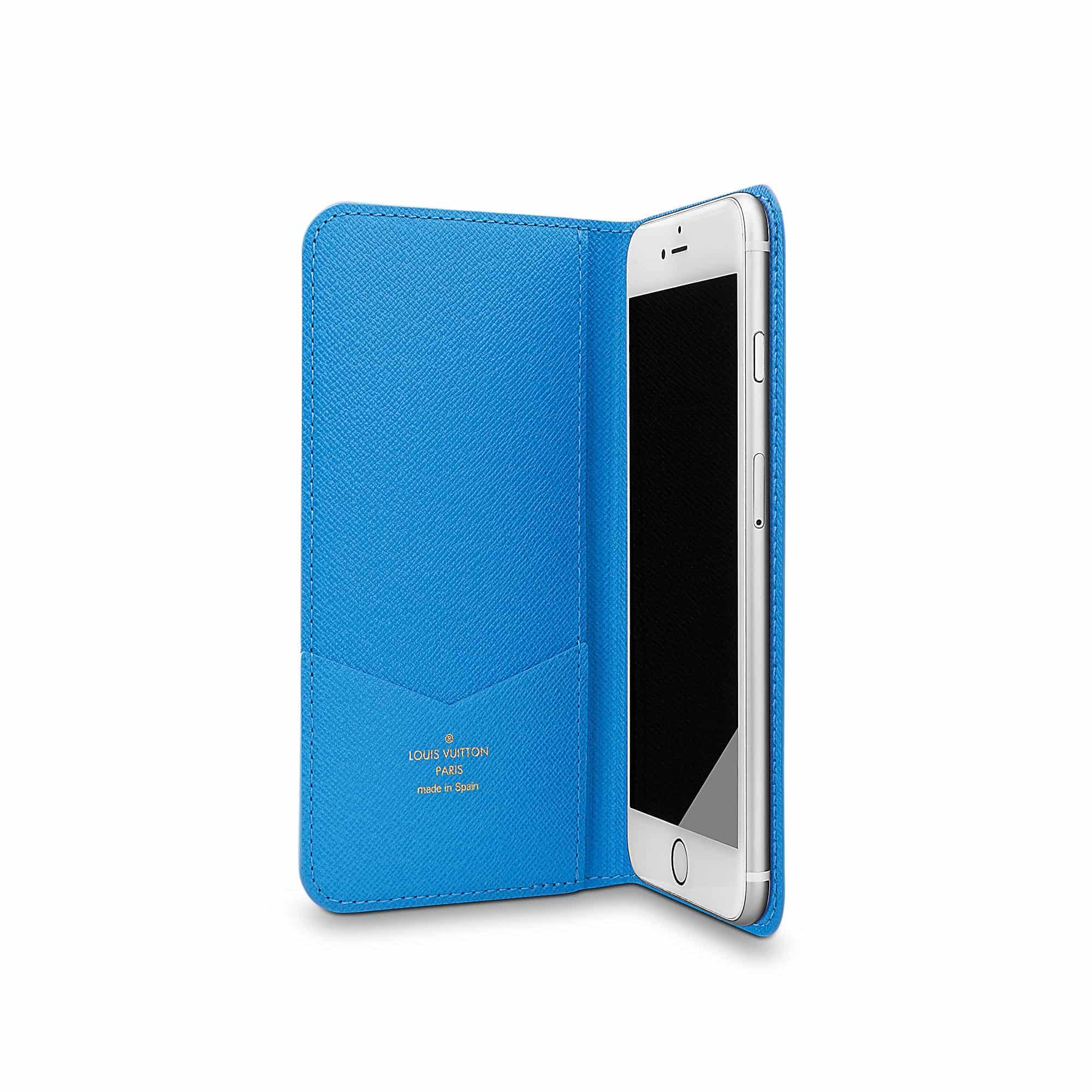 louis vuitton iphone 6 case. louis vuitton men apple iphone 6 plus folio blue m61632 case