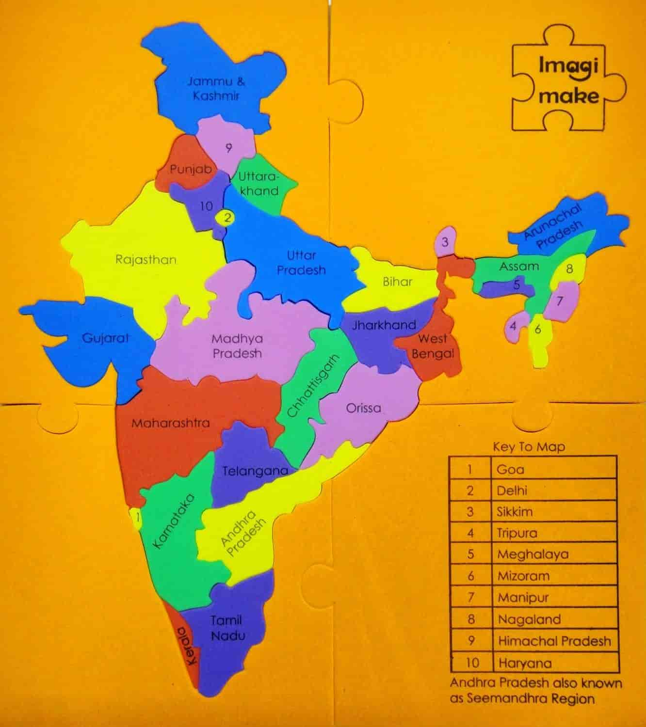 Buy mapology states of india map puzzle educational toy and mapology states of india map puzzle educational toy and learning aid for boys and gumiabroncs Images