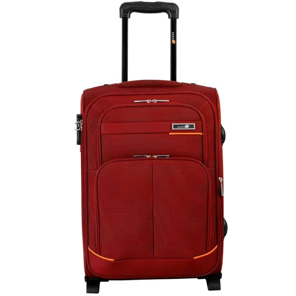 Buy Safari 2 Wheel Masaimara Small Trolley Bag Red, Features ...