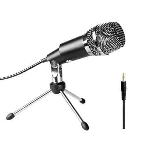 Pyle Pro Audio PMIKC20BK Vocal Condenser Cardioid Mic For Computer Black New