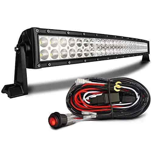 MICTUNING 32 Curved 180W CREE LED Light Bar Combo 13000lm Off Road  W/waterproof Switch