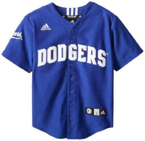 on sale c8cfa 7a41c MLB-Los-Angeles-Dodgers-Boys-Screen-Printed-Team-Color-Baseball-Jersey-Western-Blue-Large