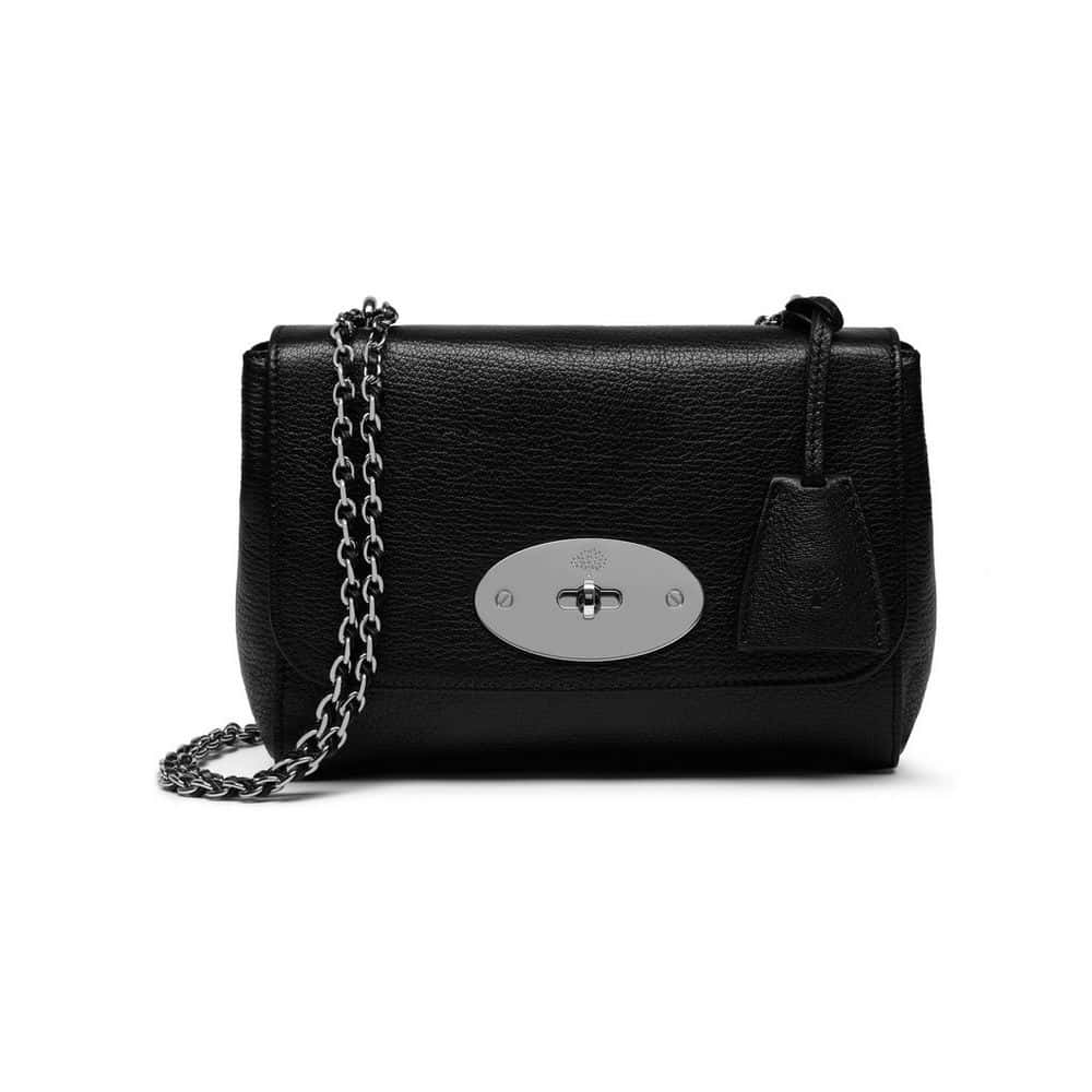 22dabfa37e1 authentic mulberry lily hand bag black glossy goat with silver tone hh3288  874a237 6deb0 0f531