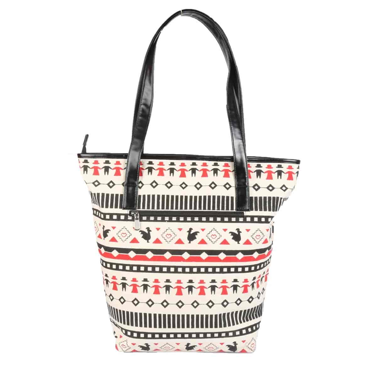 buy murcia women aztec printed large canvas and leatherrette tote