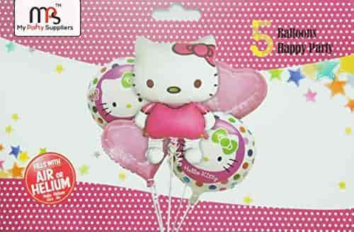 Buy My Party Suppliers Hello Kitty Birthday Balloon Bouquet Birthday Balloon Decoration Baby Shower Kitty Balloons Features Price Reviews Online In India Justdial