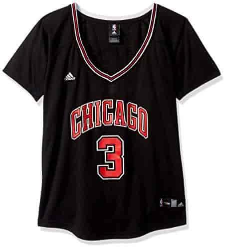 online retailer e1d9f 7a4ab NBA-Chicago-Bulls-Dwayne-Wade-3-Womens-Alternate-Road-Replica-Jersey-Medium-Black