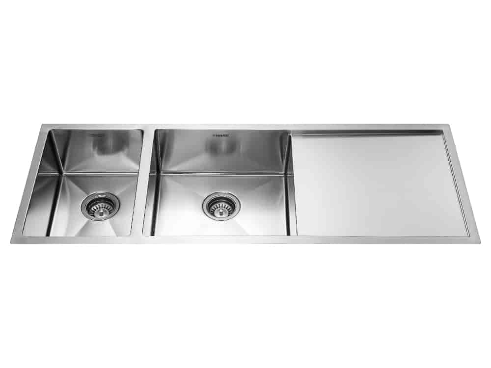 Buy Neelkanth Double Bowl Single Drain Sink [NKSL 10 DBSD2 M ...