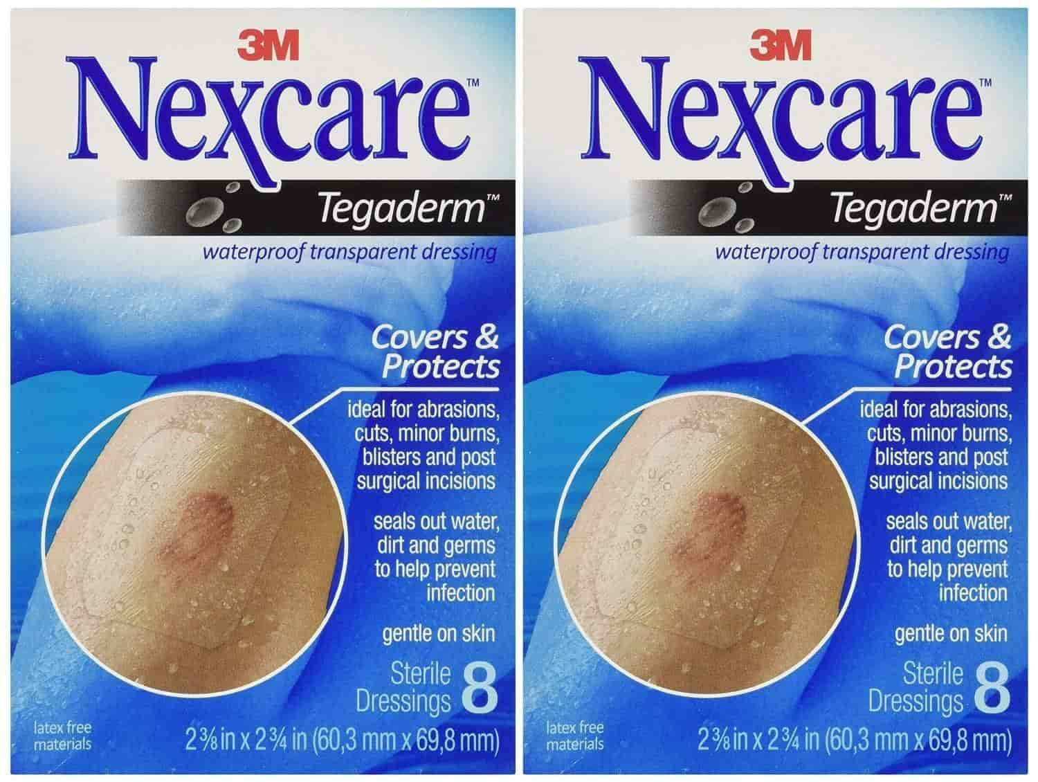 Nexcare tegaderm Waterproof Transparent Dressing 2-3//8 x 2-3//4 8Count Pack of 3