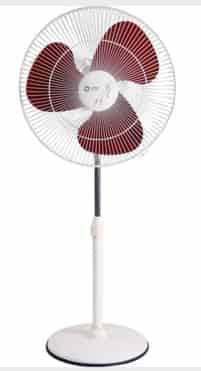 400 Mm Pedestal Fan White Crimson Red